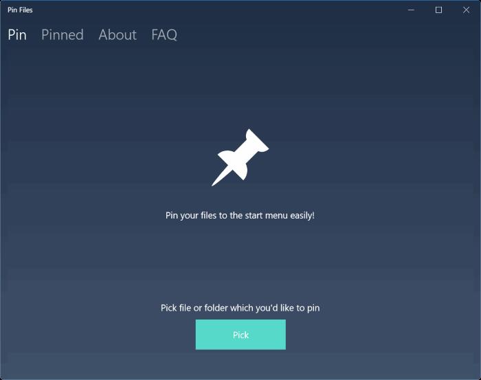 Pin Files to Start menu in Windows 10 pic1