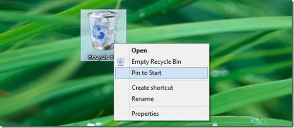 Pin Recycle Bin icon to Taskbar in Windows 10 picture12