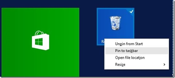Pin Recycle Bin to Taskbar in Windows 10