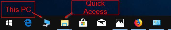 anclar este pc a la barra de tareas de Windows 10