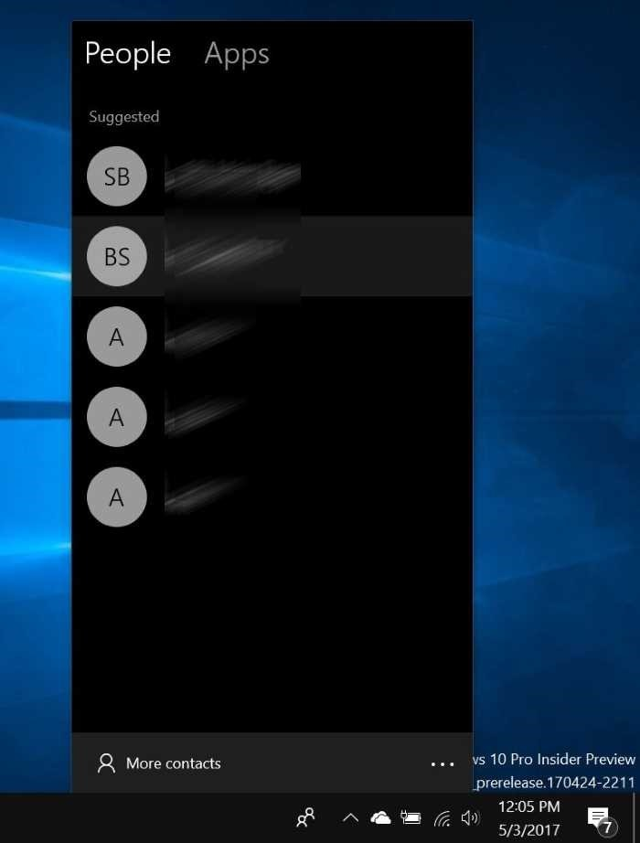 Clavar o desclavar contactos de personas a la barra de tareas de Windows 10 pic2