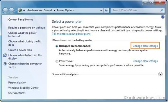 Evitar que los programas despierten la máquina de Windows 7