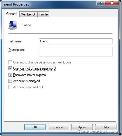 Evitar que los usuarios cambien la contraseña en Windows 7 step4