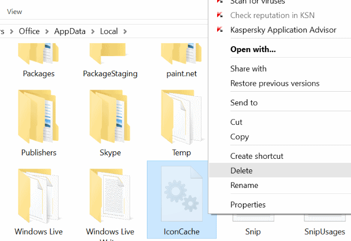 Rebuild Windows 10 icon cache step4