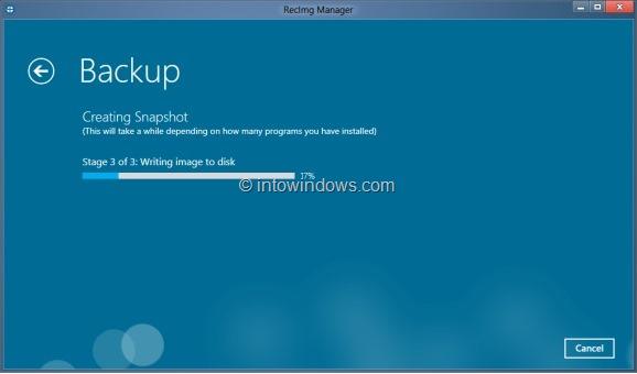 RecImg Manager for Windows 8