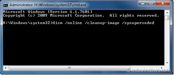 Recuperar el espacio perdido en disco después de instalar SP1 para Windows 7