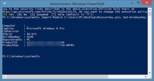 Recuperar Windows Prodcut Key Without tools1
