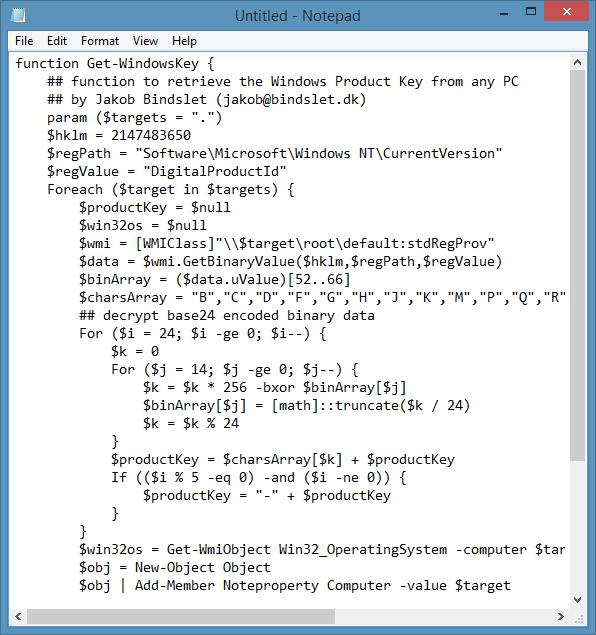 Recuperar clave de producto de Windows sin usar herramientas de terceros Paso 1