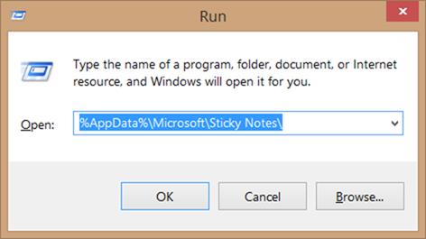 Recuperar notas adhesivas eliminadas en el paso 1 de Windows