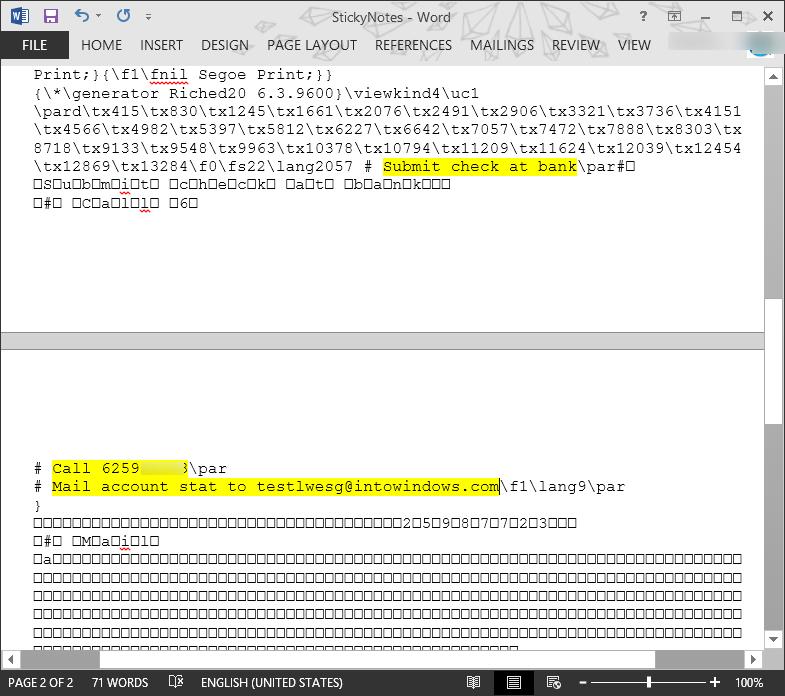 Recuperar notas adhesivas eliminadas en el paso 3 de Windows