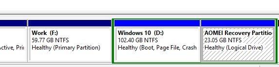 Partición de recuperación Windows