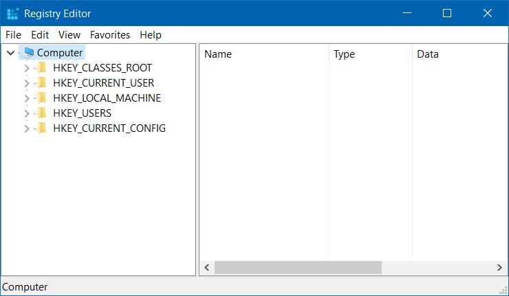 Ubicación del archivo del registro en Windows 10 o 8 o 7 pic1