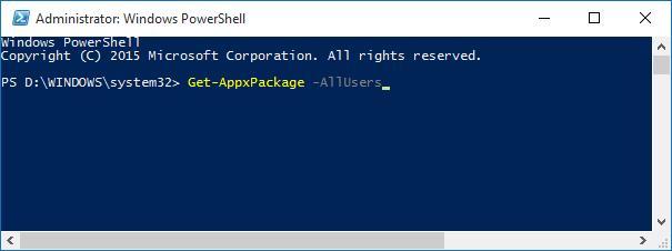 Reinstalar la aplicación Mail en Windows 10pic1