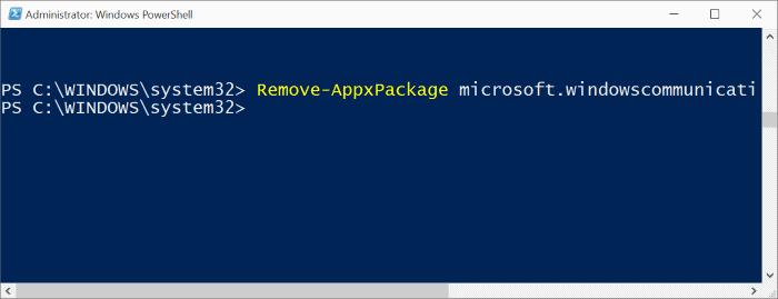 Reinstalar la aplicación Mail en Windows 10pic4.1
