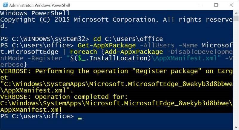 Reinstalar Microsoft Edge en Windows 10 step10