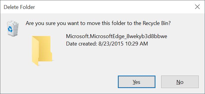 Reinstalar Microsoft Edge en Windows 10 step3