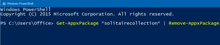 Reinstalar Microsoft Solitaire Collection en Windows 10 step2