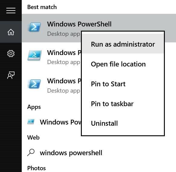 Reinstalar Store y otras aplicaciones preinstaladas en Windows 10 pic01
