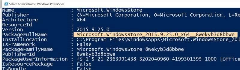 Reinstalar Store y otras aplicaciones preinstaladas en Windows 10 pic2