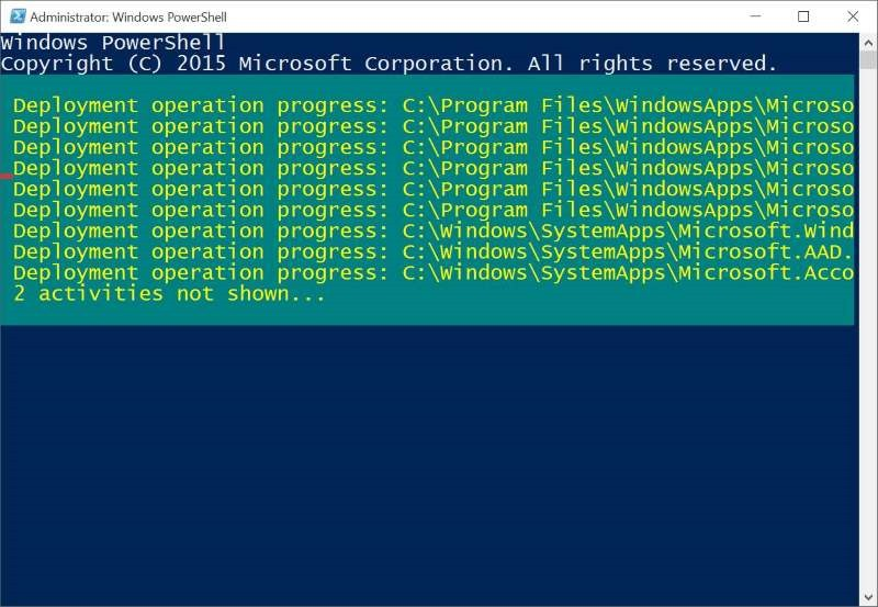 Reinstalar Store y otras aplicaciones preinstaladas en Windows 10 pic5