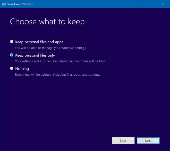 Reinstalar Windows 10 sin el paso 13 de pérdida de datos