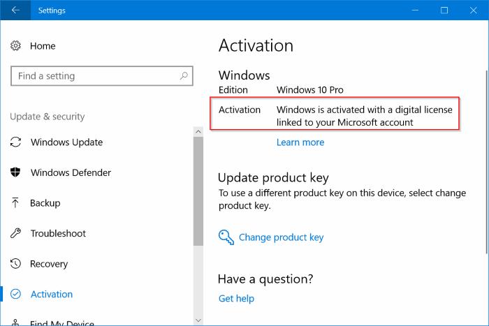 Reinstalar Windows 10 sin perder la licencia de activación1