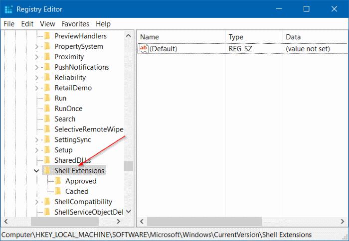 Quitar el Molde al dispositivo del menú contextual en Windows 10 step2