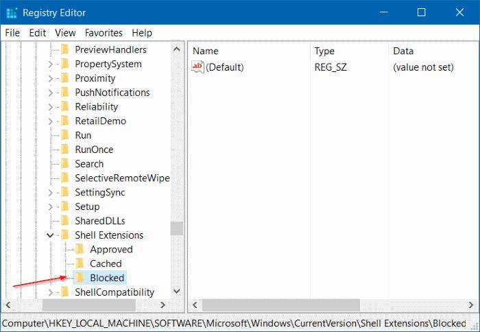 Quitar el Molde al dispositivo del menú contextual en Windows 10 step4