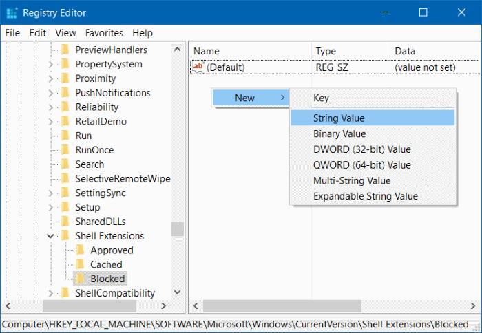 Quitar el Molde al dispositivo del menú contextual en Windows 10 step5