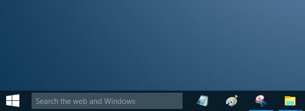 Quitar cuadro de búsqueda de la barra de tareas de Windows 10