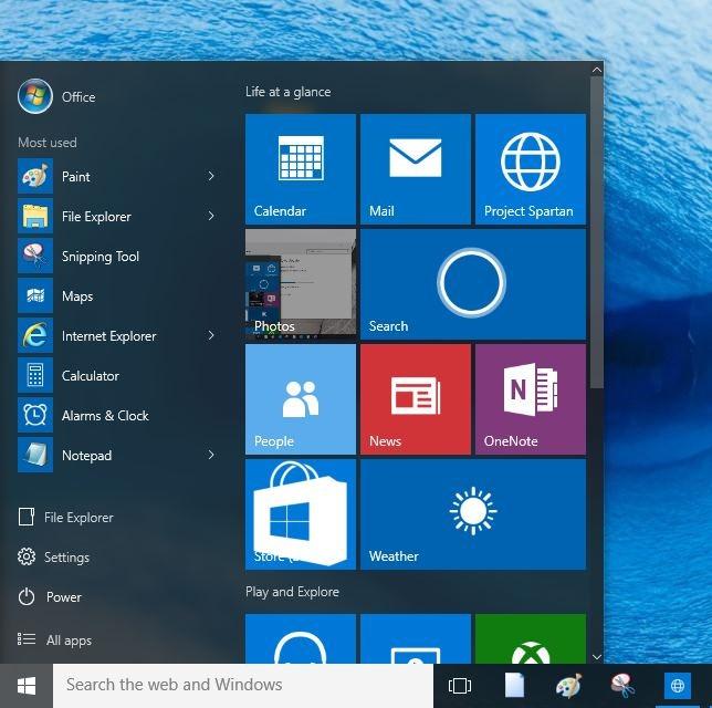Eliminar las aplicaciones más usadas del menú Inicio Windows 10 picture1