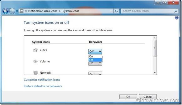 Quitar reloj de la barra de tareas de Windows 7