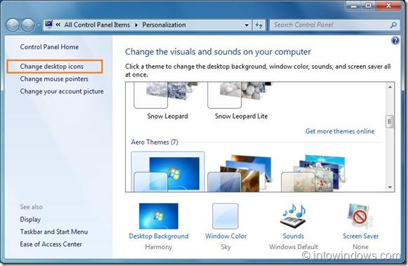 Eliminar la papelera de reciclaje del escritorio de Windows