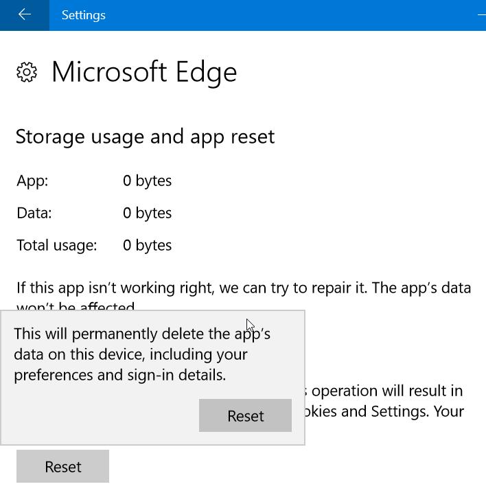Reparar Microsoft Edge en Windows 10 (5)