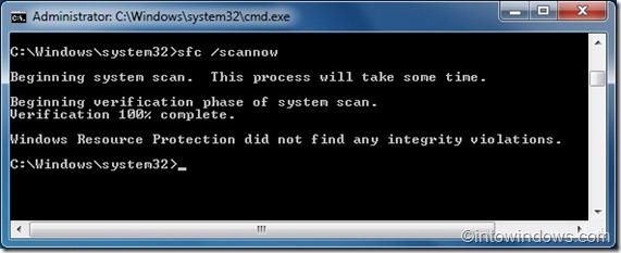 Reparar archivos de sistema de Windows 7