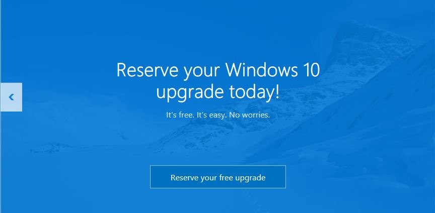 Reserve su copia de actualización gratuita de Windows 10