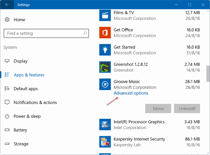 Reset Groove Music in Windows 10 pic7