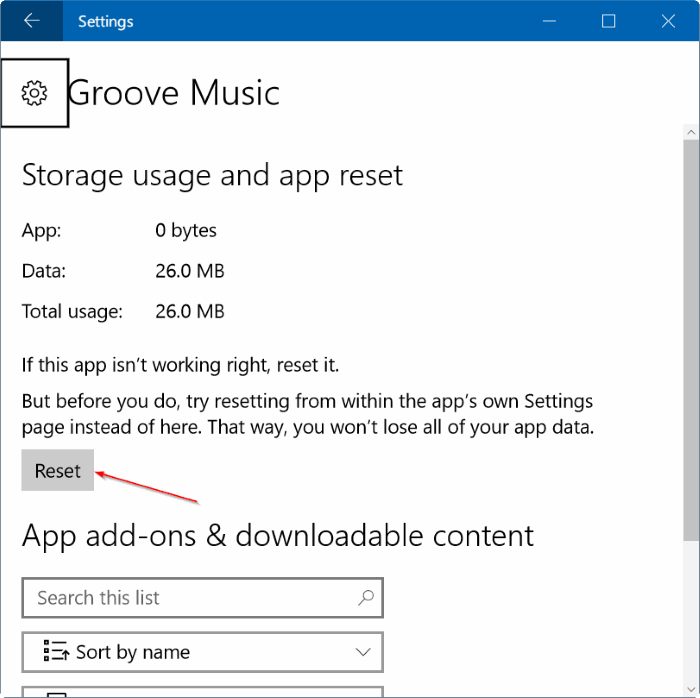 Reset Groove Music in Windows 10 pic8