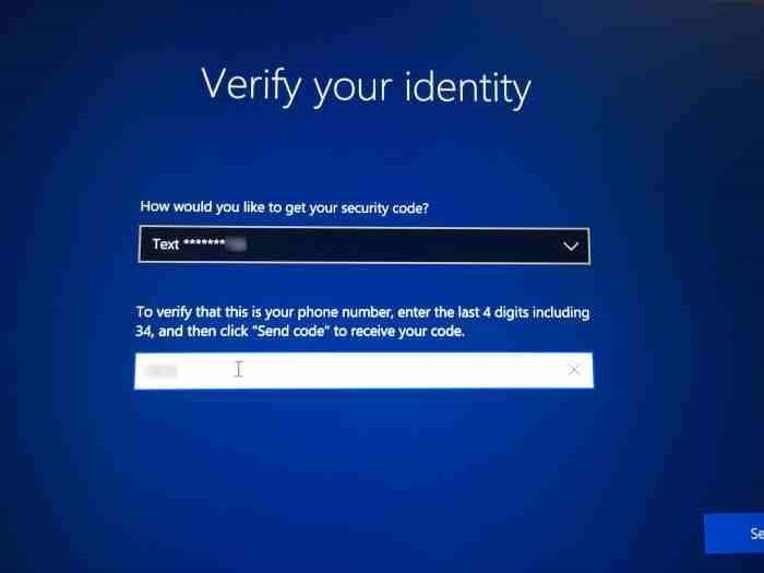 Restablecer la contraseña de la cuenta de Microsoft desde la pantalla de inicio de sesión en Windows 10 (2)
