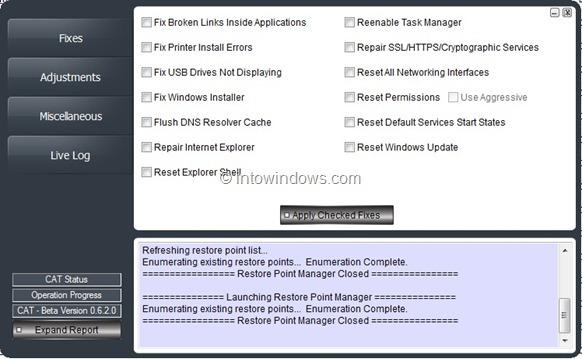 Reset Windows Errors And Permissions