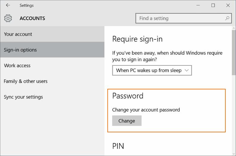 Restablecer o cambiar la contraseña de la cuenta de Microsoft Windows 10 pic02