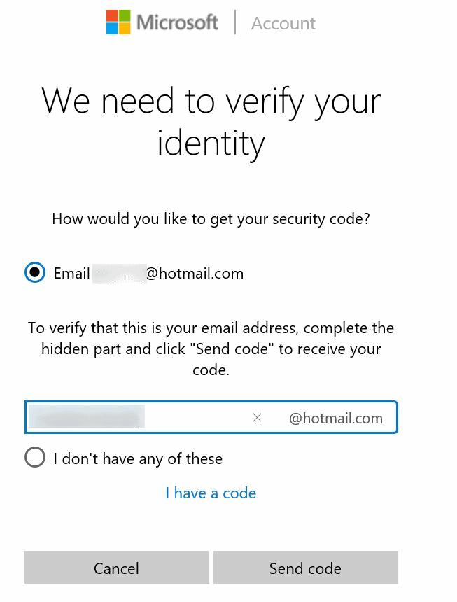 Restablecer o cambiar la contraseña de la cuenta de Microsoft Windows 10 pic11