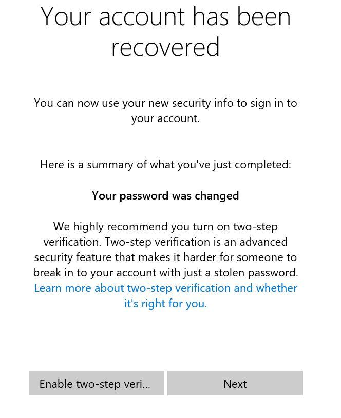 Restablecer o cambiar la contraseña de la cuenta de Microsoft Windows 10 pic14