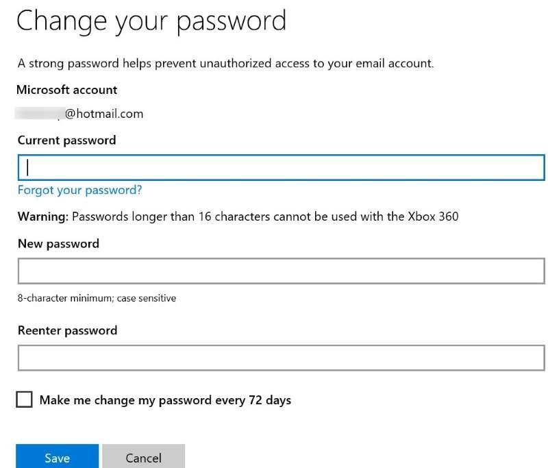 Restablecer o cambiar la contraseña de la cuenta de Microsoft Windows 10 pic19
