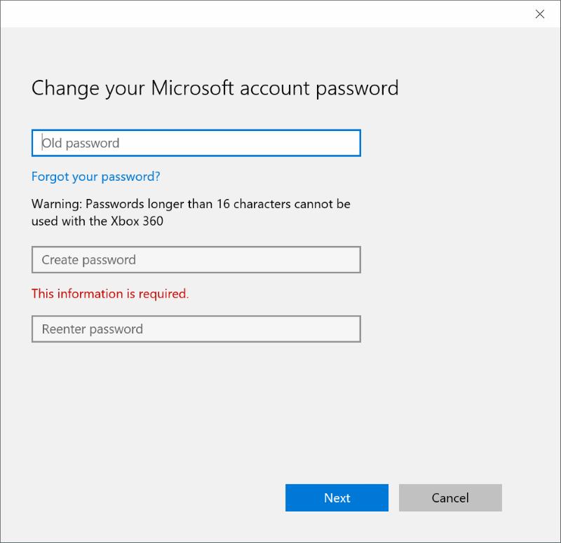 Restablecer o cambiar la contraseña de la cuenta de Microsoft Windows 10 pic4