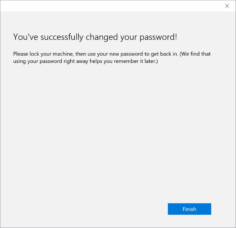 Restablecer o cambiar la contraseña de la cuenta de Microsoft Windows 10 pic5