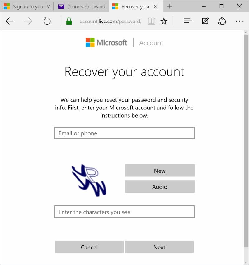 Restablecer o cambiar la contraseña de la cuenta de Microsoft Windows 10 pic9