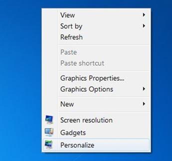 Redimensionar iconos de escritorio en Windows 7 y Windows 8 picture1