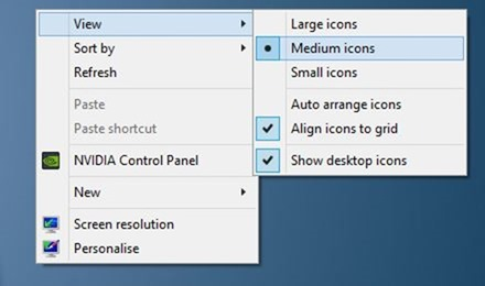 Redimensionar iconos de escritorio en Windows 7 y Windows 8 picture4