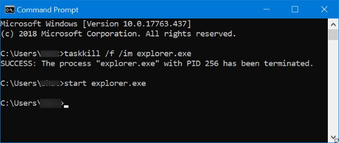 Reiniciar el Explorador de archivos de Windows en Windows 10 pic2